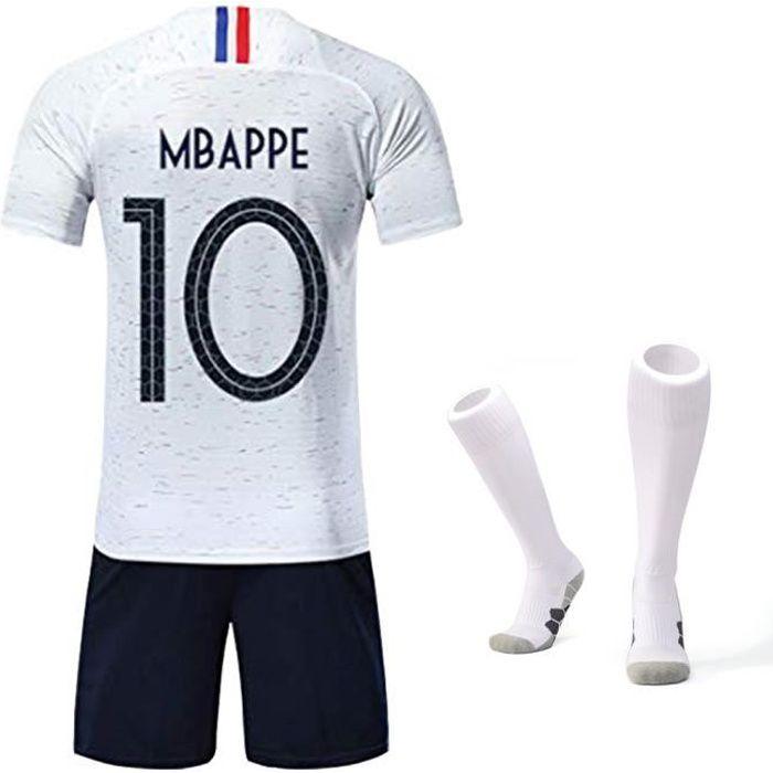 Ensemble de Sport Garçon T-Shirt Champion Enfant 2018 France Top et Short Sport Football Avec Chaussettes