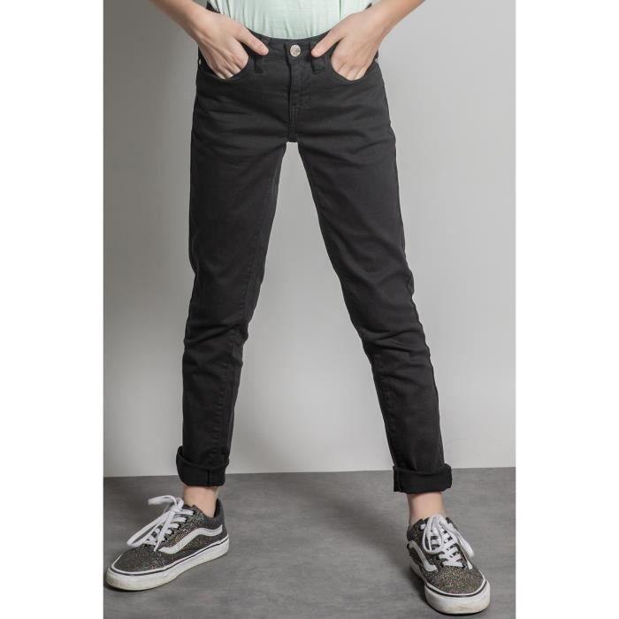 DEELUXE Pantalon slim 5 poches PIME Black
