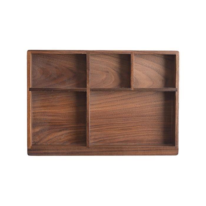1 Pc boîte de rangement pour couverts Type de tiroir noyer noir plateau en bois massif vaisselle organisateur de LAVE-VAISSELLE