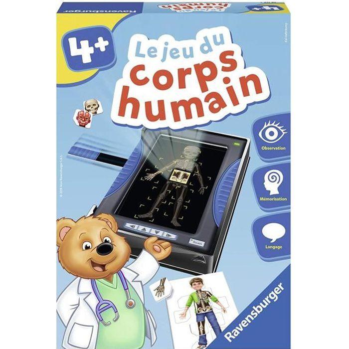 RAVENSBURGER Jeu éducatif Le jeu du corps humain - 4 ans et +