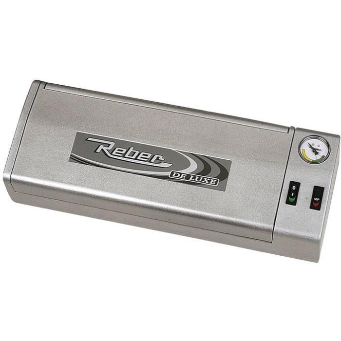 REBER Machine à faire le vide Family Deluxe automatique - gris métal