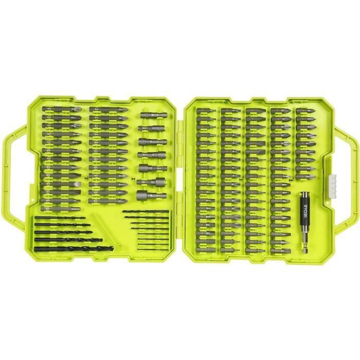 Coffret RYOBI 127 accessoires de vissage perçage RAK127DDSD