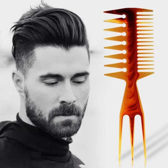 Peigne - Hommes-Femmes Dents Double Face Peigne Os En De Poisson Brosse à Cheveux Salon Coiffure De Coiffeur