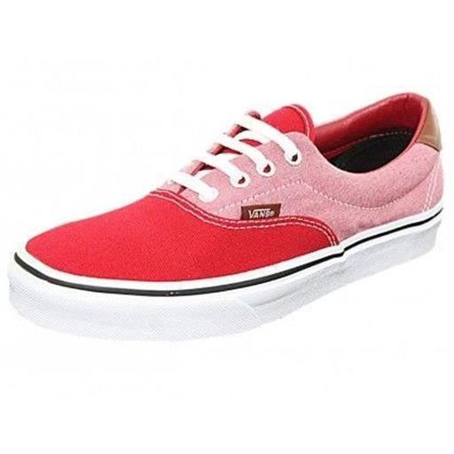 baskets mode basket canvas/chambray chili, chaussur femme vans vans era 59 36 Rouge