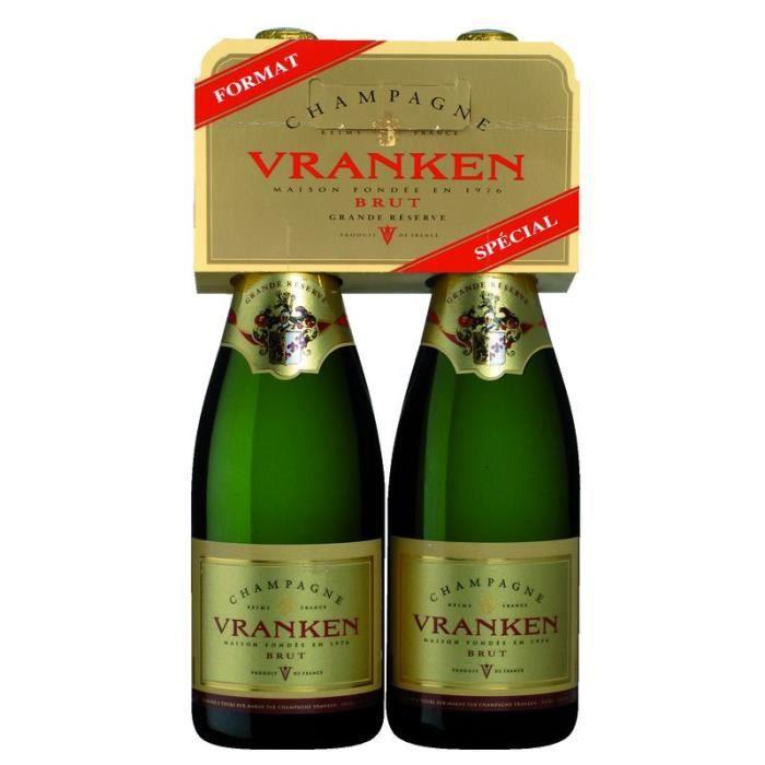 VRANKEN Grande Réserve Champagne brut - 2 x 75 cl - 12 °