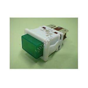 Interrupteur 3 cosses vert pour Refrigerateur Philips, Friteuse Magimix, Refrigerateur Laden, Refrigerateur Whirlpool,