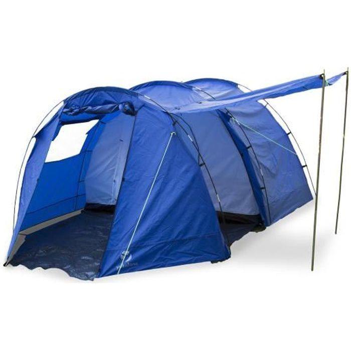 Yukatana Jomida Tente 4 places style tunnel pour camping, randonnée (260 x 150 x 410cm , colonne d'eau 3000mm , polyester ) - bleue