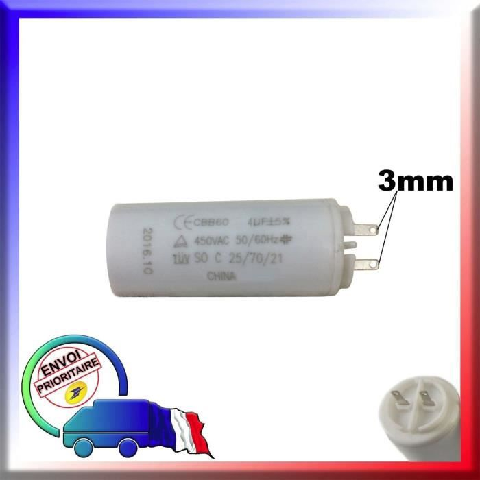 Condensateur De Demarrage 4uf Moteur Volet Roulant Bubendorff