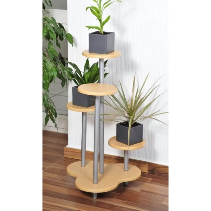 support multiple pour 4 plantes hauteur 75 cm meuble d coratif achat vente meuble. Black Bedroom Furniture Sets. Home Design Ideas