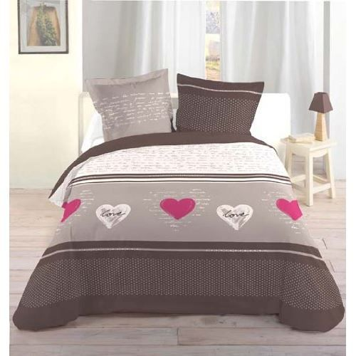 housse de couette 220x240 cm lover 100 coton s achat. Black Bedroom Furniture Sets. Home Design Ideas