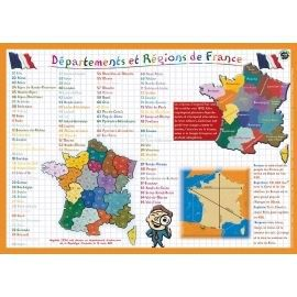 Set educatif d partements et r gions de france achat for Set de table plastifie