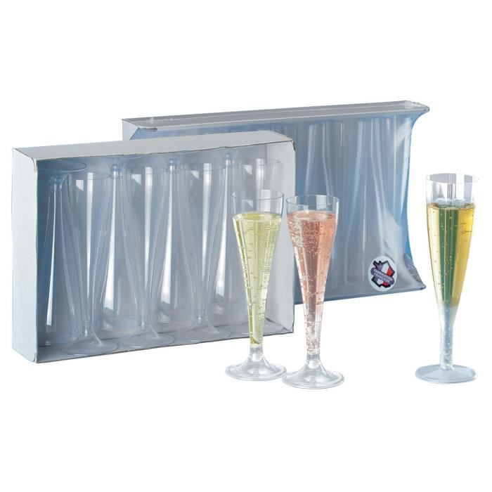 flute a champagne cristal hauteur sachet de 8 unites 10cl cuisine usage unique. Black Bedroom Furniture Sets. Home Design Ideas