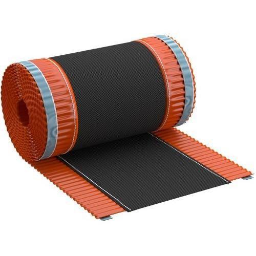 Closoir de fa/îtage souple ventil/é tout aluminium 400 mm X 10 ml ROUGE