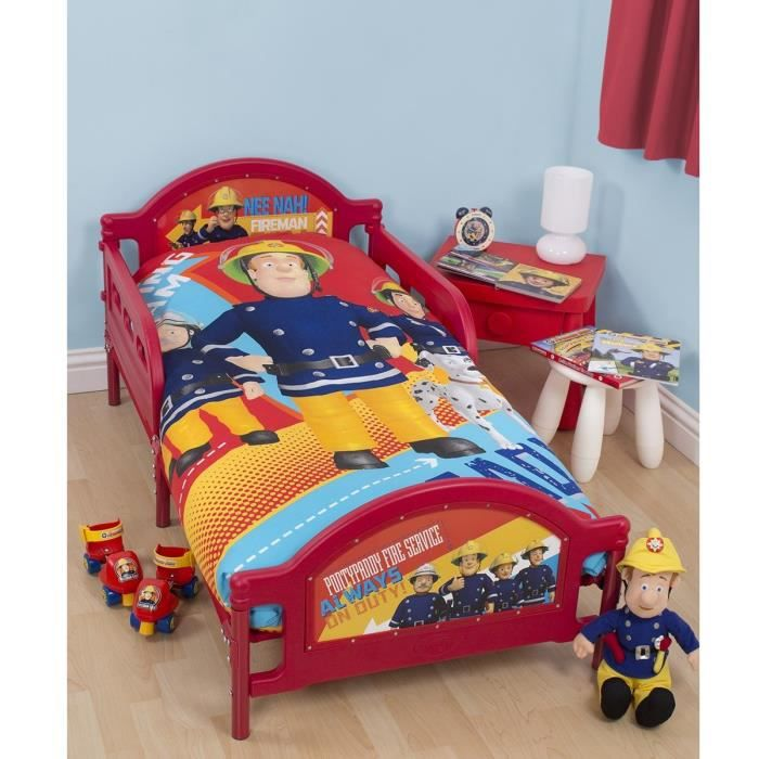 parure de lit junior fireman sam le pompier achat vente parure de lit cdiscount. Black Bedroom Furniture Sets. Home Design Ideas