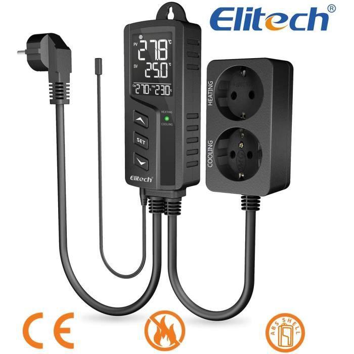 EU plug 110-240V Prise de contr/ôle de temp/érature Thermostat sans fil programmable Contr/ôleur de temp/érature num/érique domestique 110-240V