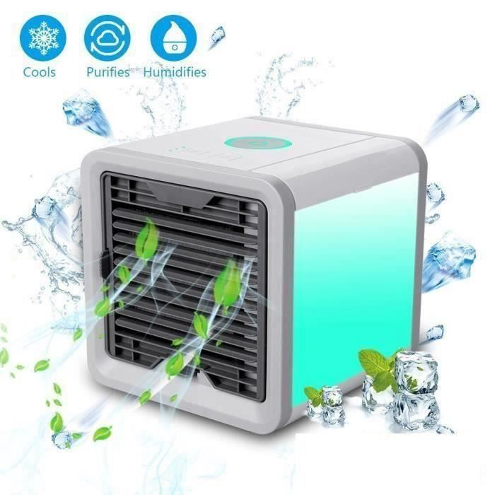 VENTILATEUR Mini Climatiseur Ventilateur Humidificateur Purifi