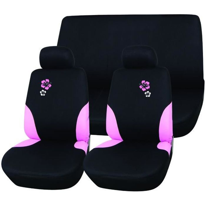 imdifa jeu de housses si ges auto hibiscus achat vente housse de si ge housse si ge auto. Black Bedroom Furniture Sets. Home Design Ideas
