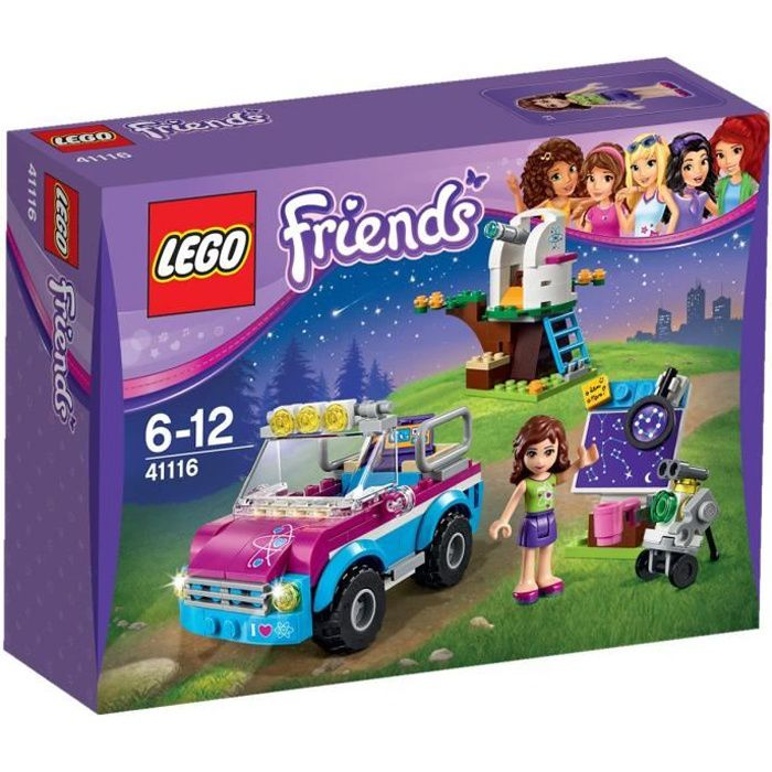 lego friends 41116 la voiture d 39 exploration d 39 olivia achat vente assemblage construction. Black Bedroom Furniture Sets. Home Design Ideas
