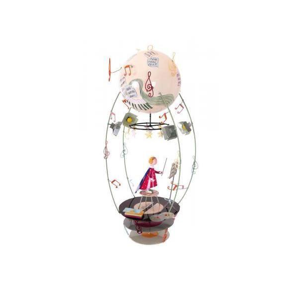 LOiseau Bateau Spirale Mobile Fille Coquelicots