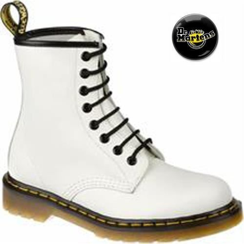 doc martens bsm smooth blanc 100 blanc blanc achat. Black Bedroom Furniture Sets. Home Design Ideas