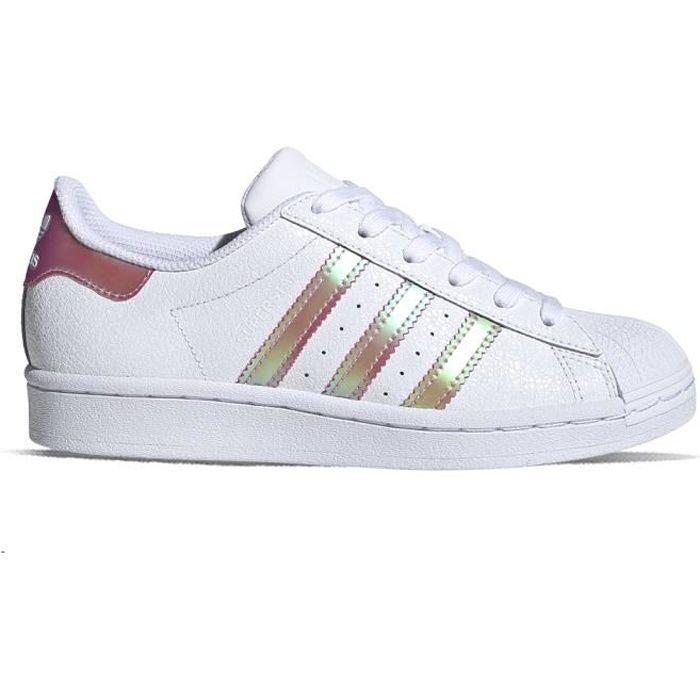Adidas Superstar J FW8279 - 38 2-3 Blanc - Cdiscount Chaussures