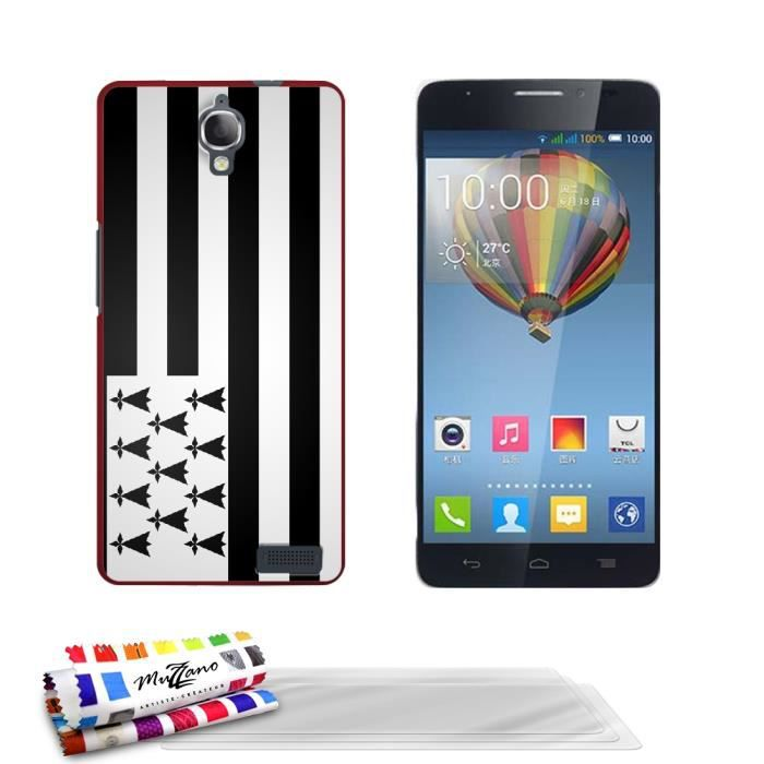 Coque de protection rigide rouge pour alcatel one touch for Housse alcatel one touch