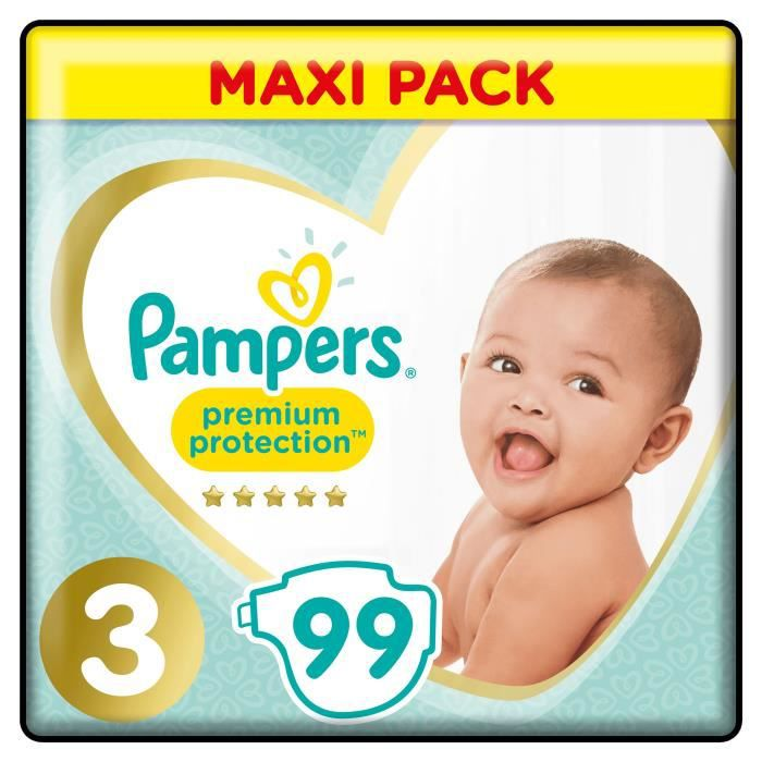 COUCHE PAMPERS Premium Protection Taille 3 - 6 à 10 kg -