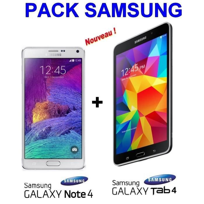 samsung galaxy note 4 blanc samsung galaxy tab 4 achat. Black Bedroom Furniture Sets. Home Design Ideas