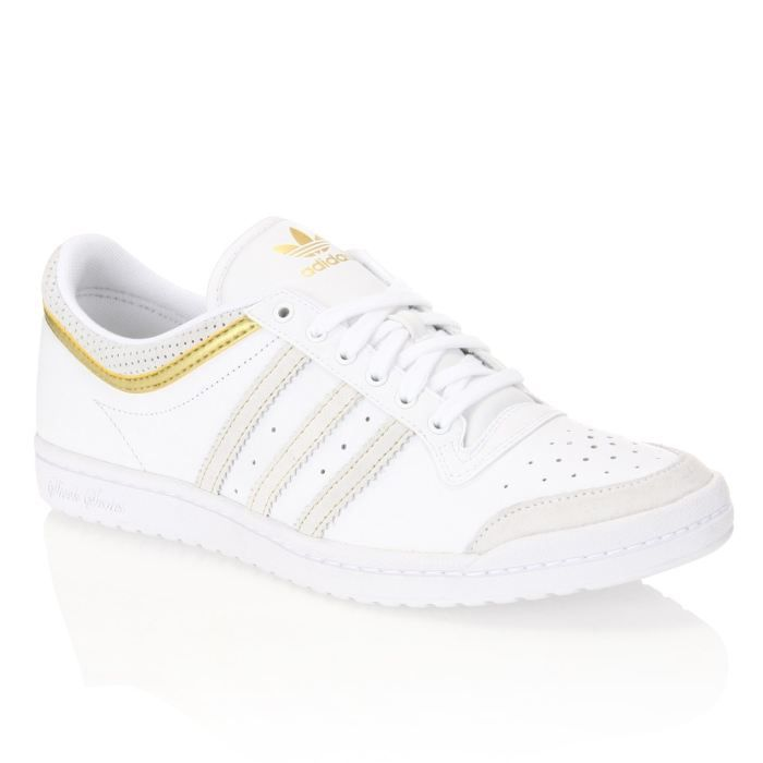 ADIDAS Baskets Top Ten Low Sleek 1 Femme Blanc et or - Achat   Vente ... 2eeb7e57cc99