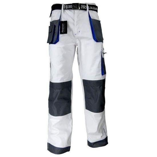 Hommes Pantalon De Travail Pantalons Peintres D/écorateurs Blanc Nouveau Coton Lux/&J