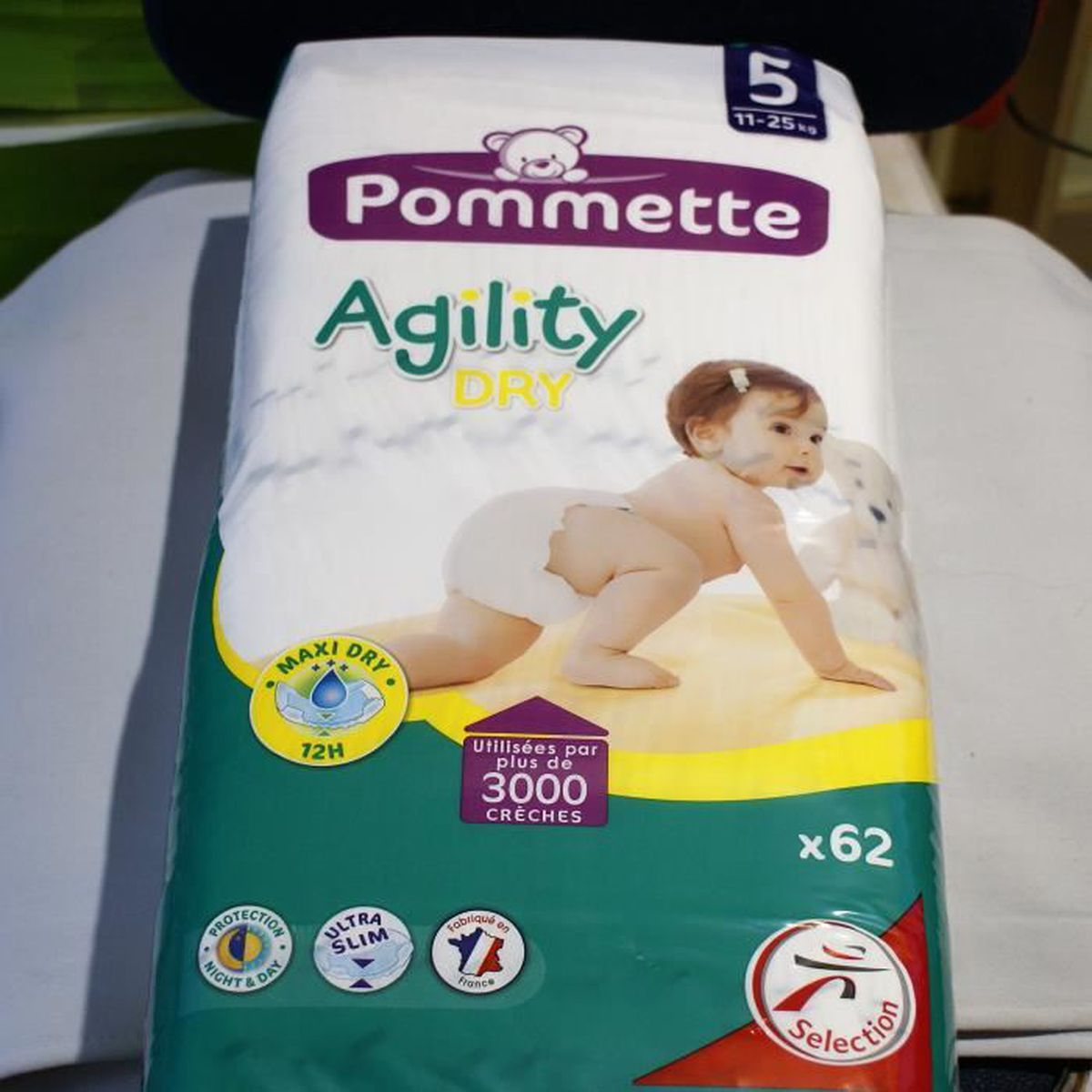 Lot De 62 Couches Agility Dry Pommette N5 New Quality Achat
