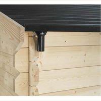 Gouttière pour abri en bois SOLEIL toit pvc 3x2 m