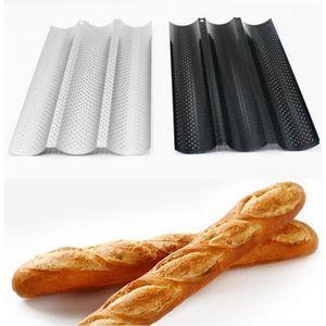 MOULE  Plaque de Cuisson Moule à 3 Baguettes Anti-Adhésif