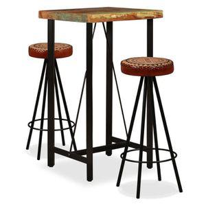 TABOURET DE BAR Ensemble table à manger 2 personnes + 2 chaises -