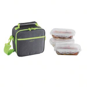 LUNCH BOX - BENTO  BE NOMAD SEP122V Set Sacoche Lunch box - Vert