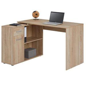 BUREAU  Bureau d'angle ISOTTA table avec meuble de rangeme