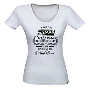 T-SHIRT Tee-shirt personnalisé Maman Coiffeuse T-shirt idé
