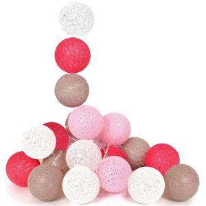 GUIRLANDE LUMINEUSE INT Guirlande Boule lumineuse 10 boules Led Rose Déco
