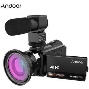 CAMÉSCOPE NUMÉRIQUE Andoer 4K 1080P 48MP WiFi Caméra Vidéo Numérique+0
