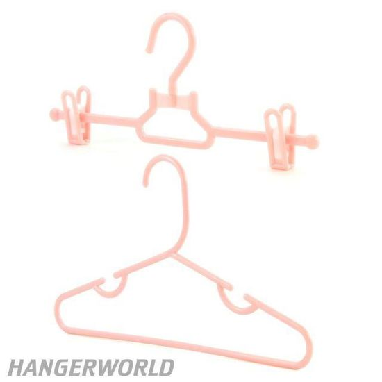 Hangerworld Lot de 10 cintres /à Pinces en Plastique pour Enfant et b/éb/é Rose