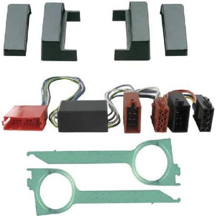 Kit Adaptateur Autoradio 1DIN Audi A4 99-01 systeme amplifie non-Bose + ISO + Cles - ADNAuto - KITFAC090