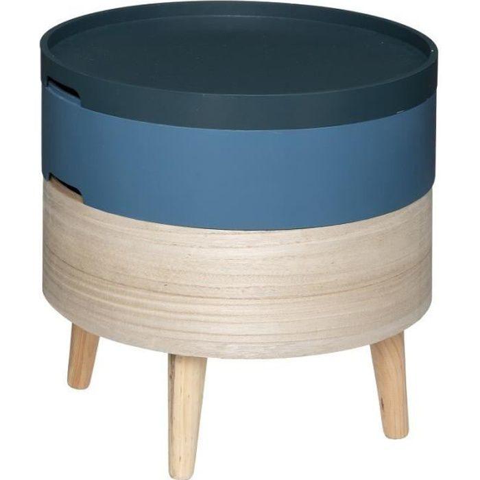 Table à café coffre Yuki bleu Atmosphera - Bleu
