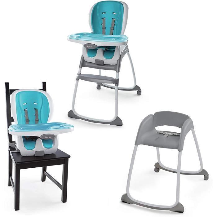 Ingenuity, Chaise Haute, Siège Enfant et Rehausseur, Trio 3-in-1 SmartClean