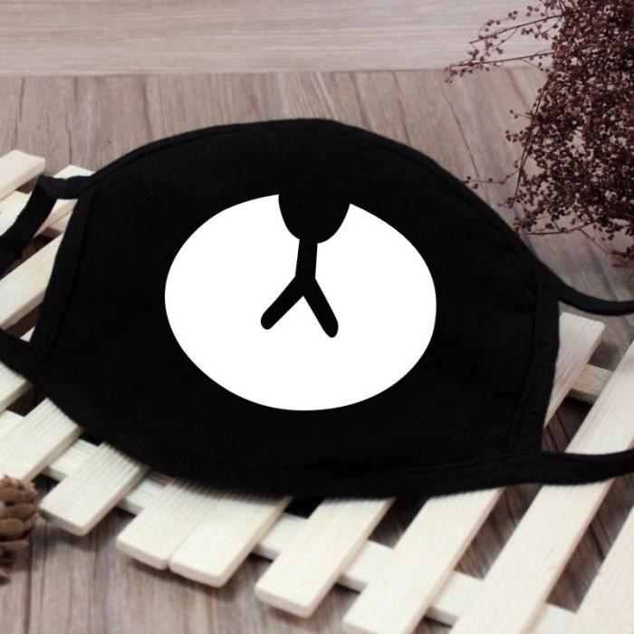 4pcs Bouche Masque Mode Anti Poussière Coton Visage Masque Facial Bouche - Motif 18