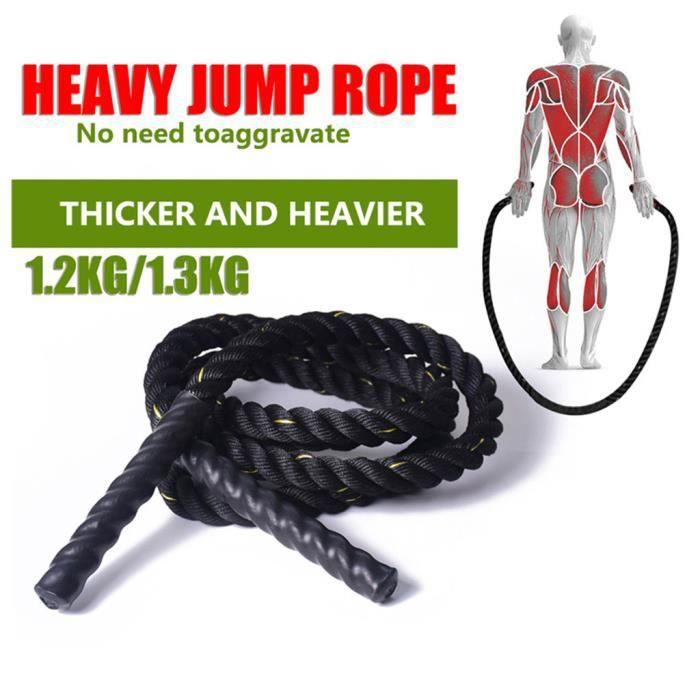 25mm Fitness Heavy Jump Rope Cordes à sauter pondérées pour hommes femmes fitness #2707