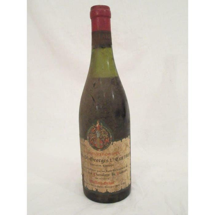 nuits saint-georges moillard premier cru tastevinage b2 rouge 1949 - bourgogne france