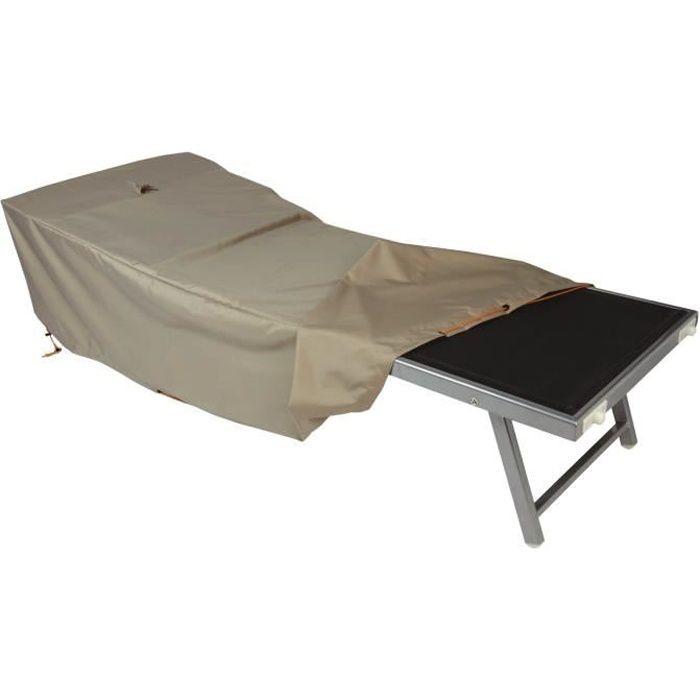 Housse de protection imperméable pour bain de soleil et transat, dimensions 200 x 75 cm