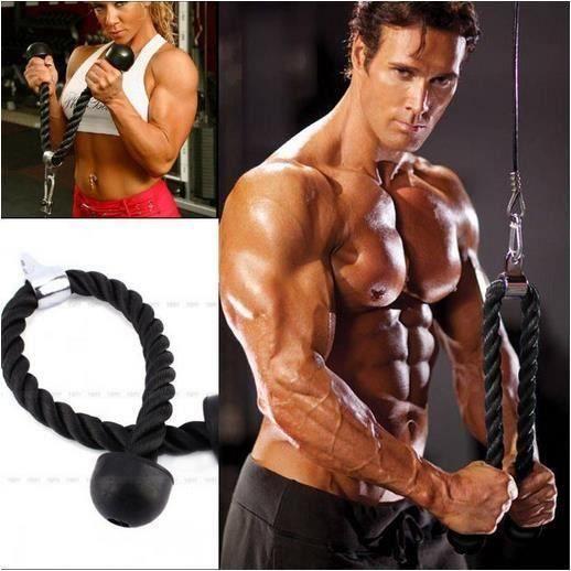 Câble Corde Cordon Entraînement Tirage Musculation Biceps Triceps Gym Fitness Aa49729