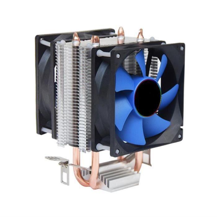 Ventilateur pour processeur Ventirad Cpu 1x80mm Cuivre, Aluminium