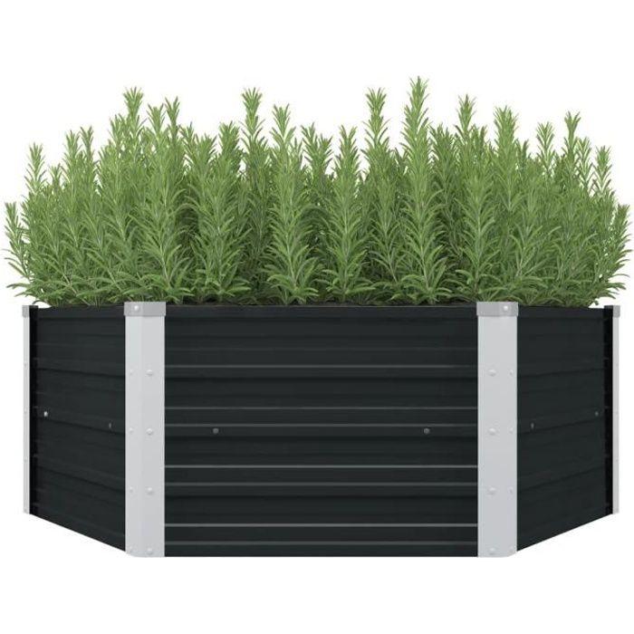 MOBILIER🌿Luxueux Magnifique- Jardinière - Extérieur & Balcon - Balconnière Green Basics Lit surélevé de jardin- Bac à fleurs 7237